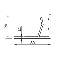 F профил за композитен панел