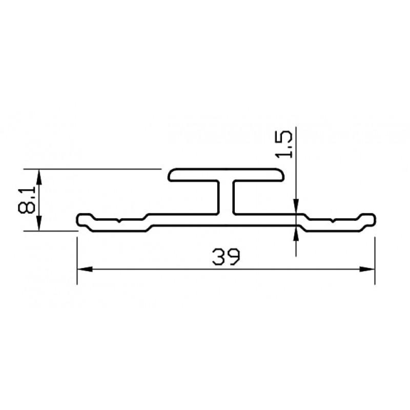 H профил за композитен панел Конзоли